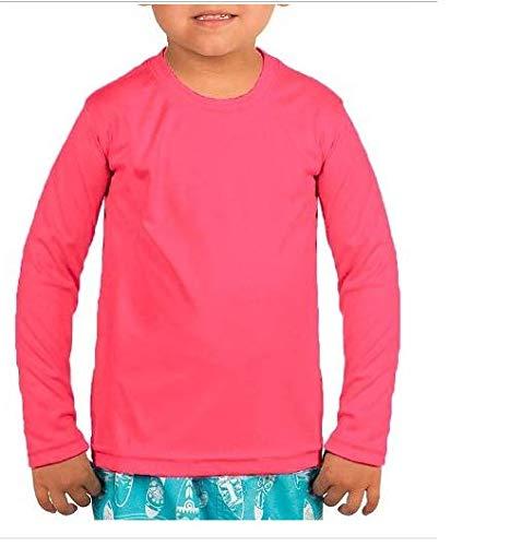 Camisa Termica Infantil Manga Longa Proteção Uv 50 Quente Inverno Verão Moda Praia (10, rosa)