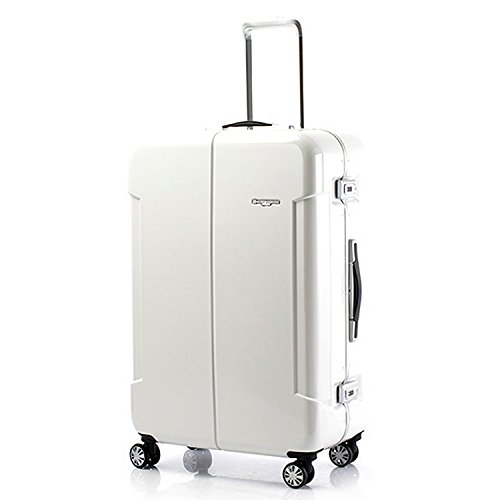 HIDEO WAKAMATSU ヒデオワカマツ ナローII 超軽量 スーツケース LL ハードキャリー TSA 90L ホワイト 85-76380-WH