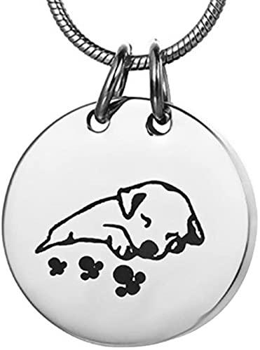 Aluyouqi Co.,ltd Collar de cremación para Mascotas para Cenizas, urnas, joyería, Acero Inoxidable, Redondo, Perro, Gato, Recuerdo, urna Conmemorativa, Colgante, medallón