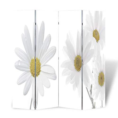 vidaXL Raumteiler Klappbar 160x170cm Blume Paravent Trennwand Spanische Wand