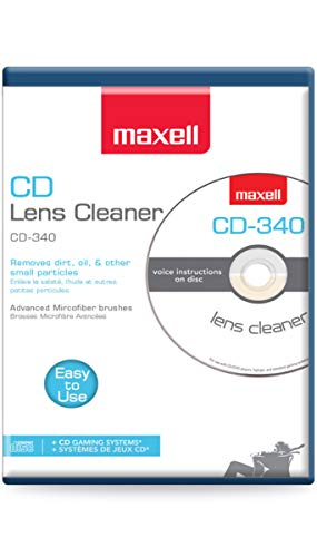 Maxell Safe and Effective Feature CD Player and Game Station Compact Disc Cleaner CD-340 190048 CD/CD-ROM Laser Lens Cleaner