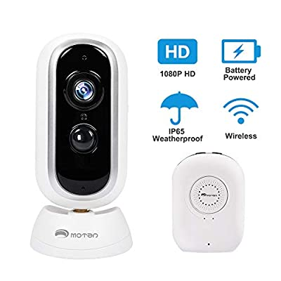 Outdoor Security Camera Wireless Rechargeable Battery Powered Camera,Home Security Camera System WiFi 1080P Camera Night Vision HD Video with Motion Detection 2-Way Audio Talk WiFi Camera IP65 SD Slot