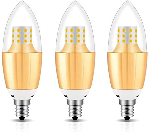 Chents Lampadina LED a candelabro, equivalente a lampadine Non dimmerabili da 100 Watt, lampadine a Candela LED da 8W, lampadine a lampadario Bianco Luce Diurna 6000K, Base candelabro E14, 230V, 12