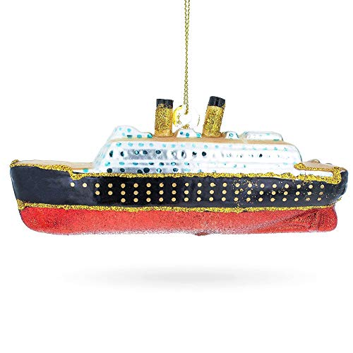 BESTPYSANKY Titanic Ship Glass Christmas Ornament