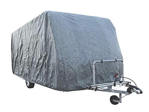 HAFIX Wohwagen Wohnmobil Schutzhülle Cover Caravan Ganzgarage Abdeckplane 3-lagig veschiedene Größen (Wohnwagen, 580-> 640x225x220cm)