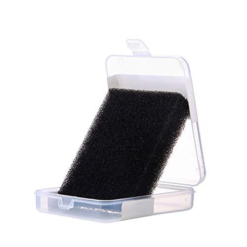 Lurrose 2pcs poudre nettoyage éponge ombre blush enlèvement de couleur nettoyant pour poudre cosmétique