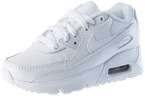 Nike Air MAX 90 LTR Little Kids' SH, Zapatillas para Correr Unisex niños, White White Metallic Silver White, 35 EU