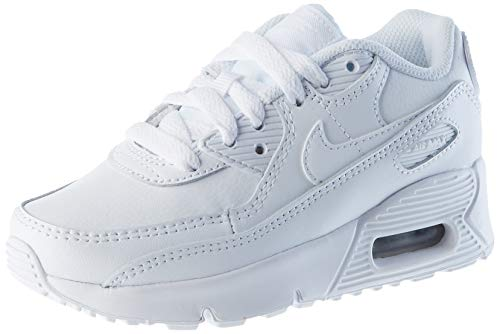 Nike Air MAX 90 LTR Little Kids' SH, Zapatillas para Correr Unisex niños, White White Metallic Silver White, 35 EU