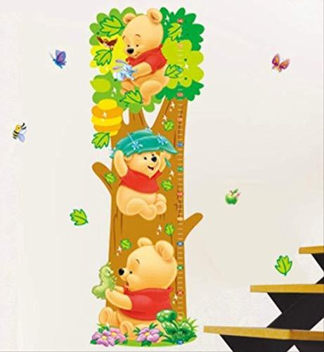Stickers Muraux Chambre D'Enfants De Dessin Animé Winnie Winnie L'Ourson Arbres Ours Animaux Taille Mesure Croissance Graphique Pour Chambre D'Enfant Maison Stickers, 68 * 23 Cm