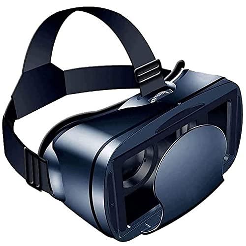 Gafas vr VR Auriculares 3D Vagas Virtuales Vidrios de pantalla completa Visual de gran angular suaves y cómodos: juegos de VR y películas en 3D para iOS y teléfonos inteligentes de Android, gafas VR p