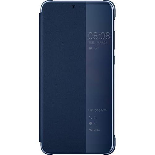 Huawei P20 Custodia Flip, Interattiva, Blu