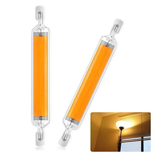 2er Pack R7s LED 118mm Nicht Dimmbar 20W,R7s LED Lampe,Cob LED Glühbirne R7s Kein Flackern und 2700k-3000k Warmweiß LED Leuchtmittel R7s 118mm Ersatz 160W R7S Halogenlampe, 360° Abstrahlwinkel
