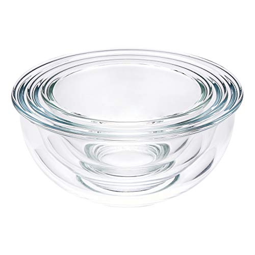 AmazonCommercial Mixing Bowls, 3 Piece Set, Lids Not Included