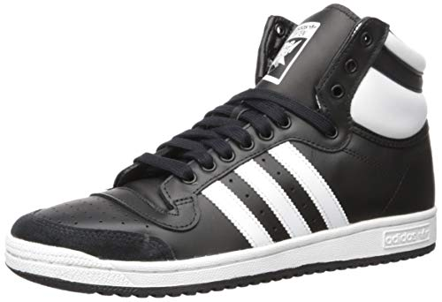adidas Originals Herren Top Ten Hi Turnschuh, Core Black/FTWR White/Core Schwarz, 39.5 EU