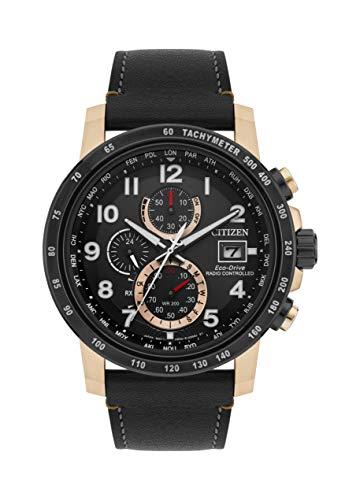 Citizen Herren Chronograph Quartz Uhr mit Leder Armband AT8126-02E
