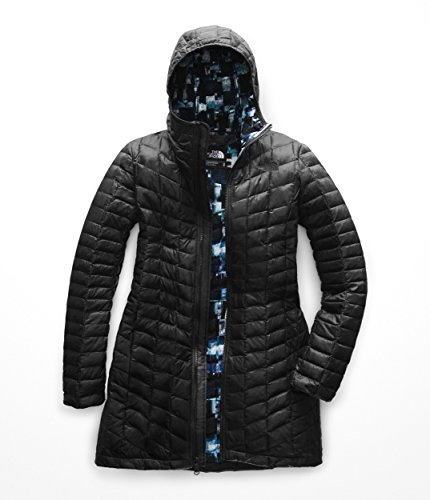 The North Face Women's Thermoball Classic Parka II - TNF Black & Multi Glitch Print - XS