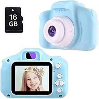 ZEIGER Kids Camera Toys Gifts for 3-8 Year Old boy Digital Camera for Kids Toddlers,Blue Camera with 16GB Memory Card