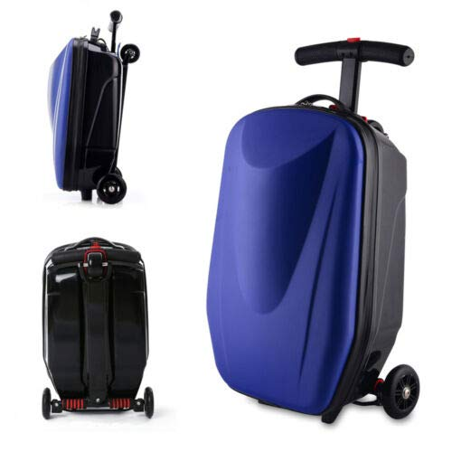 BTdahong 20 Zoll Koffer Scooter 3-in-1 Koffer-Scooter Handgepäck Strapazierfähiger Multi-Function Personalize Gepäck Scooter Rollkoffer Roller Foldable Sports Fashion Business Travel