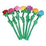 STOBOK 7 piezas de peluche de flores rosas de peluche de flores artificiales juguete para niños regalo de cumpleaños jarrón decoración 30 cm