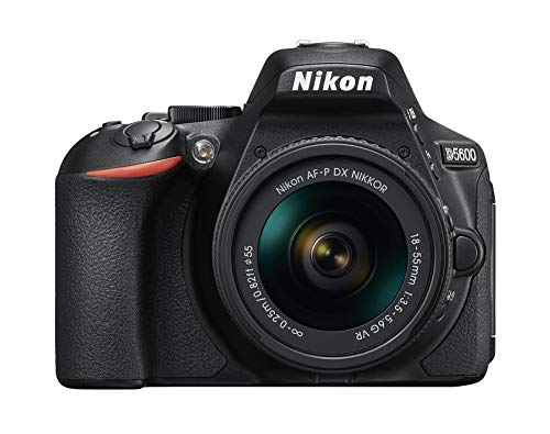 Nikon D5600 - Kit de cámara réflex de 24.2 MP con objetivo AF-P DX 18 - 55 mm VR, pantalla táctil de 3', Full HD, color...