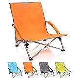 meteor Sillón Plegable - Tumbona para Jardin Camping Terraza - Silla Playa Jardín Al Aire Libre - Colores Diferentes (55 x 66 x 51 cm, Naranja)
