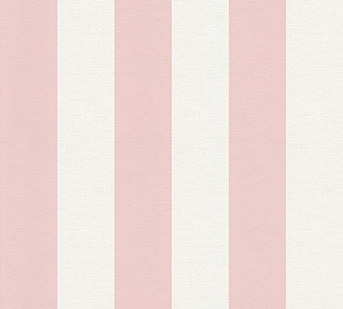 A.S. Création Vliestapete Liberté Tapete Landhaus Shabby Chic 10,05 m x 0,53 m rosa weiß Made in Germany 314017 3140-17