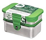 ECOlunchbox ♻️ Blue Water Bento | 3-in-1 Splash Box, Edelstahldose mit Silikondeckel | Lunchbox | Brotdose | Bento Box