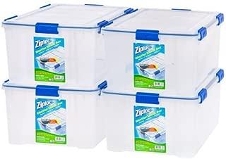 IRIS USA, Inc. Ziploc 60-Quart (15 Gallon) WeatherShield Storage Box - 4 Pack