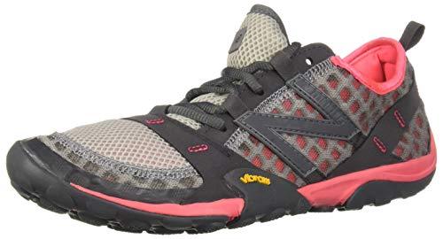 New Balance Women's Minimus 10 V1 Trail Running Shoe, Team Away Grey/Guava, 11 W US