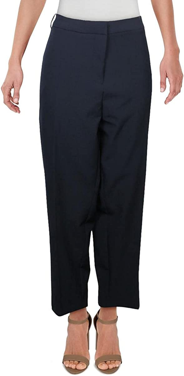 Vince Camuto Womens Plus Stretch Ankle Crop Dress Pants Navy 22W