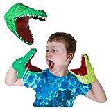Snap Attack - Cocodrilo de Deluxebase. Marionetas de Mano para niños. Marionetas de Mano de cocodrilo, Juguetes elásticos, geniales para TDAH y Autismo. Juguetes de cocodrilo para niños y niñas.
