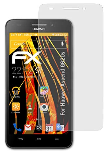 atFolix Panzerfolie kompatibel mit Huawei Ascend G620s Schutzfolie, entspiegelnde & stoßdämpfende FX Folie (3X)