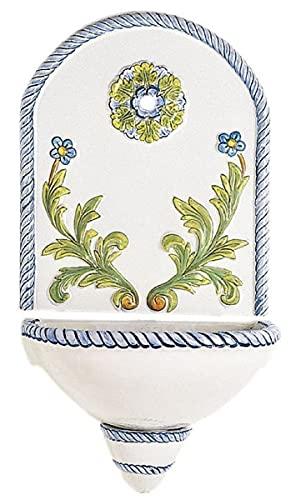 Casa Padrino Fuente de Pared Art Nouveau de Lujo Blanco/Multicolor 50 x A. 97 cm - Fuente de...