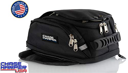 Chase Harper USA 6X Magnetic Tank Bag - Water-Resistant, Tear-Resistant, Industrial Grade Ballistic Nylon with Anti-Scratch Rubberized Polymer Bottom, Super Strong Neodymium Magnets