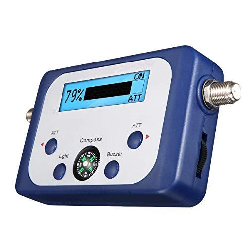 LIGHTOP Digital Satfinder Messgerät Digital LCD Display Satfinder mit Satellitenerkennung und Kompass