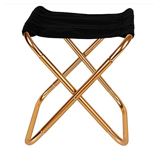 Faltbarer Stuhl Tragbarer Klappstuhl Outdoor Klapphocker Kleiner Klappsitz Aluminium Campingstuhl mit Aufbewahrungstasche Klapphocker für Camping Angeln Picknick Strand