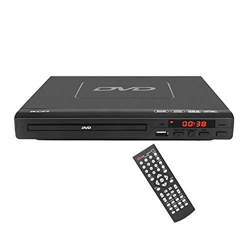 Lettore DVD da 225 mm, compatibile con lettore CD / DVD / MP3 con telecomando, porta USB Supporto Uscita HDMI (disco blueray non supportato) Nero