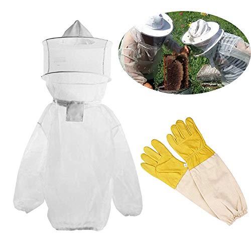Nsiwen Imkeranzug Imkerjacke Bienenanzug Schützende Atmungsaktiv imkeranzug Bienenschutz Hut Imkerhut mit abnehmbarem Schleier Imkerbekleidung mit 1 pair imkerhandschuhe