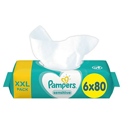 Pampers, 81687207 Sensitive Baby Feuchttücher, Weiß, 480 stück