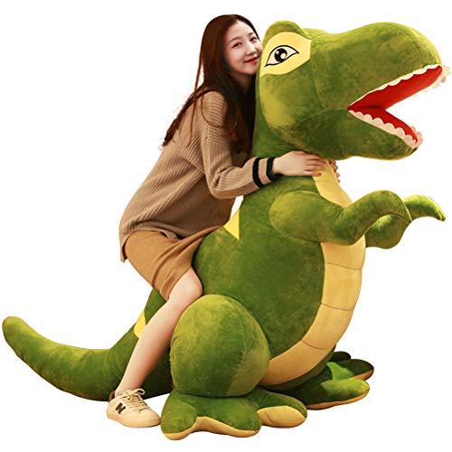 Zhyaj Peluche Gigantes, Peluche Dinosaurio Muñeca Linda Almohada para Dormir Regalo para Niña Día del Niño San Valentín Regalo,Verde,90CM