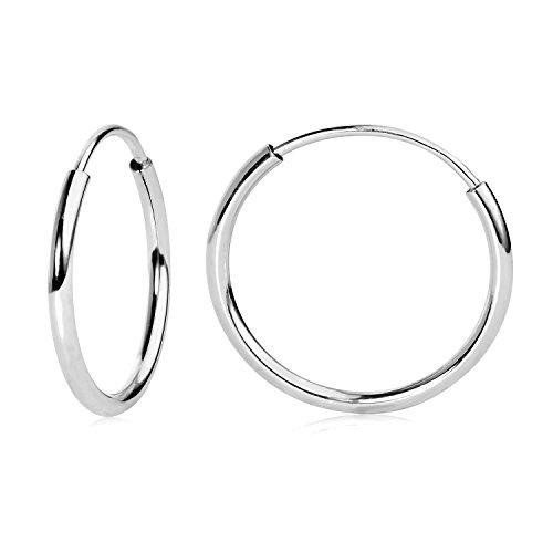 12mm WG Endless Hoop Earrings in 14k 41300