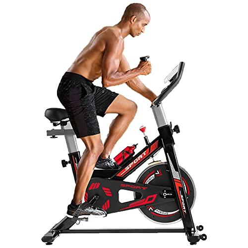 WOERD Bicicleta de Spinning Bicicleta Indoor de Volante de Inercia Ultra silencioso Aptitud Bici Y AB Trainer Speedbike, Asiento Ajustable, Bicicleta Fitness Volante 6kg