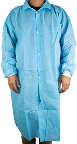 Dukal Isolation Gown, Non-Sterile, Blue (Pack of 10)