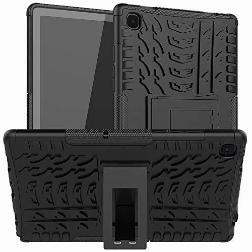 XITODA Custodia per Samsung Galaxy Tab A7 10.4 2020, Hybrid PC + TPU Silicone con supporto Case Cover Cover per Samsung Galaxy Tab A7 LTE WiFi SM-T500 T505 T507 Tablet da 10,4 pollici, A-Nero