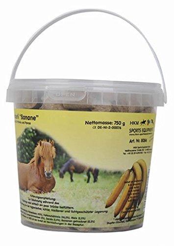 HKM 8084 - Friandises pour Chevaux - Banane - dans Un Seau de 750 g - Taille M
