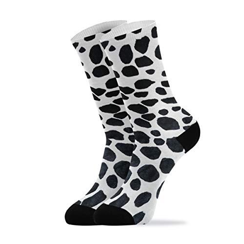 Calcetines casuales para hombre y mujer – Calcetines de tobillo con lunares dálmatas, calcetines de senderismo, 1 par