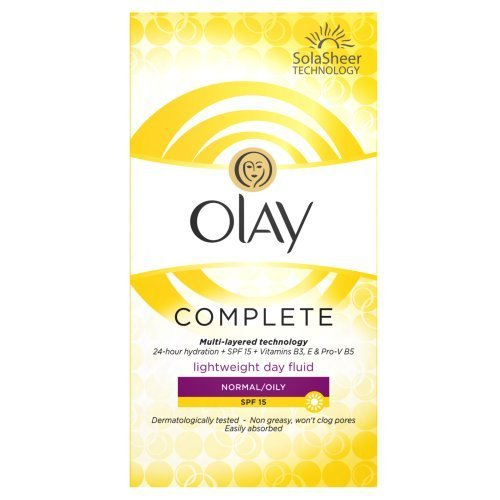 Olay SPF15 Complete Lightweight 3-in-1 Normal/Oily Moisturiser Day Fluid, 100 ml by Olay
