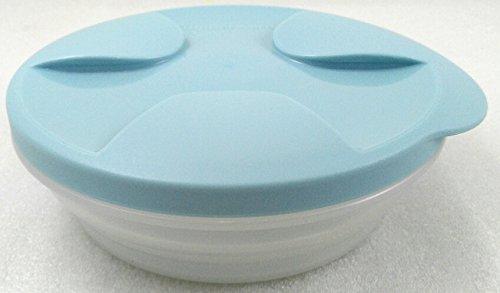 Tupperware - UNTERWEGS 1a Tupper Schüssel BIENENSCHWARM - Schüssel Teller - Salat to go - hellblau - 240 ml