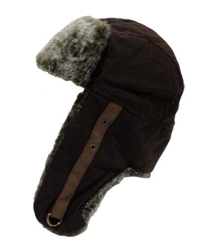 I-Smalls Chapeau de Trappeur Ciré Unisexe Fausse Fourrure (Marron) 58cm