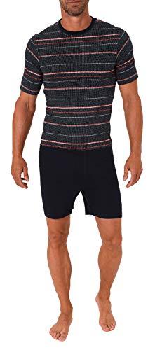 Normann Care Herren Pflegeoverall kurzgarm mit Reißverschluss am Rücken & Bein - 291 171 90 732, Farbe:Marine, Größe2:XL